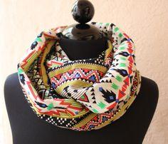Aztec Cotton Infinity Scarf