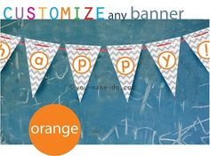 Custom party printables—make your own custom banners with instant download party printables! Available in ANY color to match your party theme.   you make do®   #party #printables #birthday #BabyShower #wedding