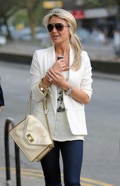 I want a white blazer!