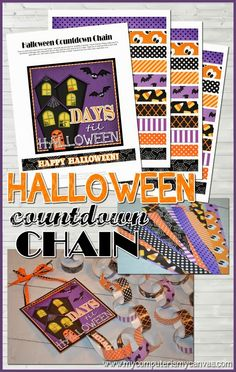 My Computer is My Canvas: {NEW!} Printable Halloween Countdown Chain
