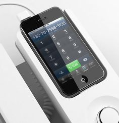 Desk Phone Dock for iPhone: Now if only it added an antenna for better reception . . .