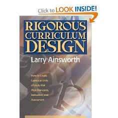 Great book from Larry Ainsworth of Power Standards fame...excellent chapter on CCSS and rigor.