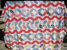 pieceful life: elongated 90 degree hexagons