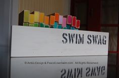 SWIM SWAG Ribbon Hanging Display, Medal Display  -  Customization & Personalization Available