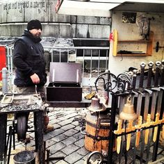 Blacksmith forge, Iron swords, Prague, Germany