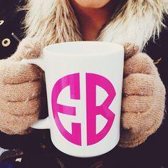 warm up with M&L monogram mugs!