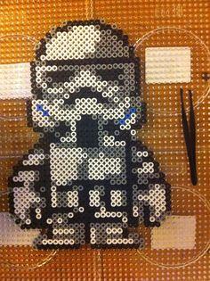 Stormtrooper Star Wars /  Perler Beads - Hama perlen - Bügelperlen