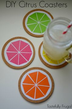 DIY Citrus Coasters: