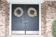 When Camo Met Diamonds: DIY: Burlap and Tulle Wreath