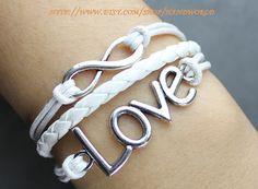 Silver cross bracelet infinity karma bracelet