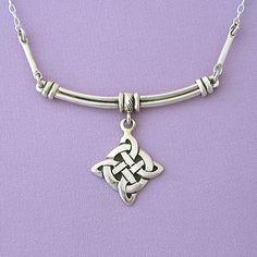 Celtic Cross Silver Pendant Necklace: Celtic Jewelry