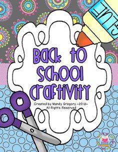 Tacky the Penguin Back to School Craftivity