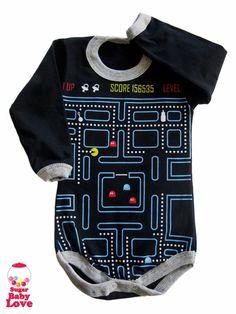 PacMan inspired baby onesie.
