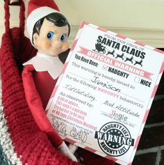 Naughty List Warning Cards. i need these next year!!