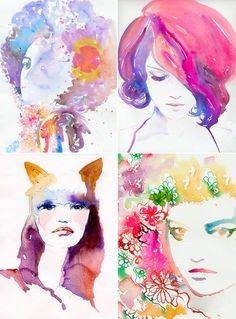 Water color fashion