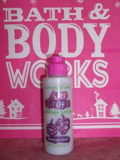 Bath  Body Works Art Stuff glitter lotion   27 Beauty Products Of The '90s You'll Never Use Again