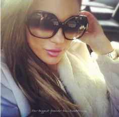 big sunglasses :)