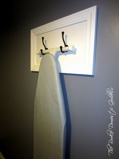 ironing boards, closet doors, new homes, iron board, laundry rooms, coat hooks, sewing rooms, storage ideas, craft rooms