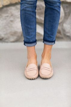 tods loafers, tods shoes, closet, blush clothes, pink loafer