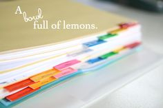 How to create an organized recipe binder... A Bowl Full of Lemons.