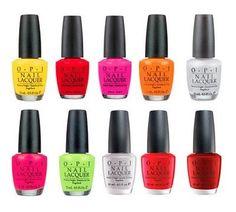 O.P.I. nail polish, every color under the sun