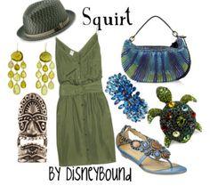 . turtl, disney style, disney outfit, disneybound, disney bound, find nemo, squirt, finding nemo, disney fashion
