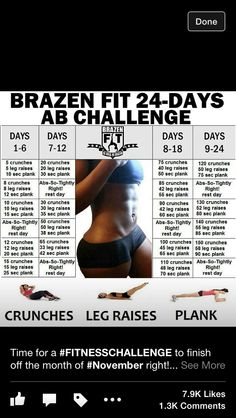 Ab work out challenge