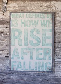 Rise After Falling  Hand Painted Sign by TheHouseofBelonging, $45.00