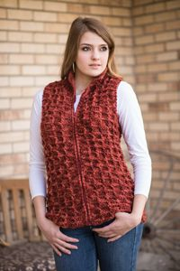 Sequoia Vest - from the Fall 2014 Issue of Love of Crochet magazine  Wear this casual vest on your next weekend adventure. Whether you're taking a trip or running errands, the plush texture is sure to keep you toasty when there's a chill in the air. Simple post stitches worked in bulky yarn will allow you to finish this piece in no time.