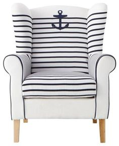 Anchors Away with nautical stripes!