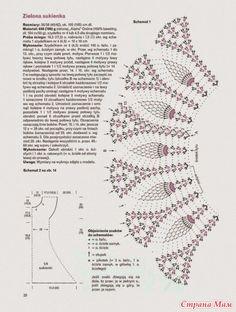 Схема вязания кокетки крючком круглой кокетки 79