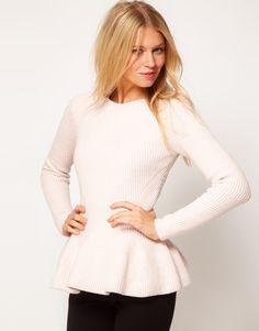 Peplum Sweater. So cute.