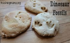 DIY Dinosaur Fossils using Salt Dough.