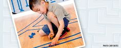 """Let your child busy himself with painter's tape on those occasions when you """"just need a minute"""" of free time."""