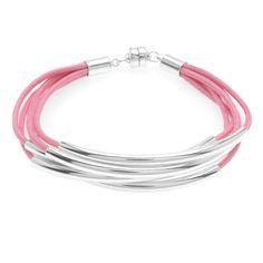 Tutorial - Noodle Bead Bracelet in Pink