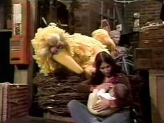 Sesame Street,1977 - Buffy explains breastfeeding to Big Bird.