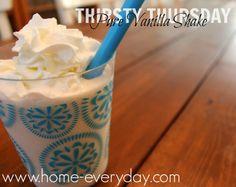 Pure Vanilla Milkshake   www.home-everyday.com