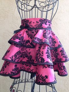 Fleur Di Lis 3 tier Couture Artistic Apron by TrishVernazza