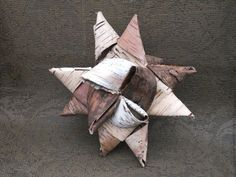 Birchbark 16-point Star, $13. birchbark, birch bark