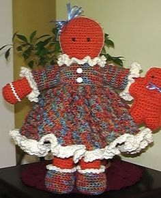 Free - Cute Crochet Chat Patterns: Ginny Gingerbread
