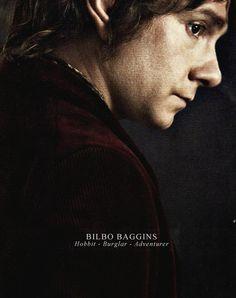 Bilbo Baggins. Hobbit.  Burglar.  Adventurer. Martin Freeman perfectly portrays Bilbo. I can't imagine anyone else playing the role.