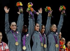 #TeamUSA gymnastics gold medalists Jordyn Wieber, Gabrielle Douglas, Mc Kayla Maroney, Alexandra Raisman and Kyla Ross