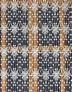 Feuilles macrame lace curtain natural