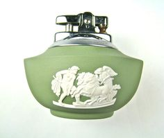 Vintage Wedgwood Sage Green Lighter by shaunsattic on Etsy
