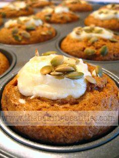 gluten free Pumpkin Cheesecake Muffin