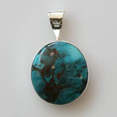 Bisbee Turquoise  Sterling Silver by BlackMountainJewelry on Etsy, $195.00