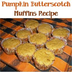 Pumpkin Butterscotch Muffins Recipe! {the perfect tasty treat for the Fall!} #pumpkin #muffins