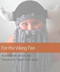 Great gift for him or her – the sports fan or viking fan. A crocheted viking winter hat with beard. Each hat is made individually and made to order. A great Christmas gift, holiday gift, gift for sports fan, or Minnesotan. $60.00. http://aftcra.com/GloriasKraftsUnthreaded/listing/6665/crochet-viking-beard-hat