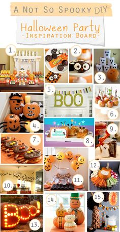 Halloween...not so spooky...party decor & food