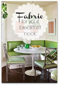 The perfect fabric sources for your breakfast nook| Abby M. Interiors
